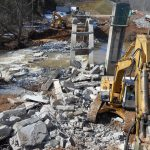Demolition of Old Bridge in Campbell County